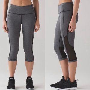 Lululemon   Gear Up Gray Black Crop Pant